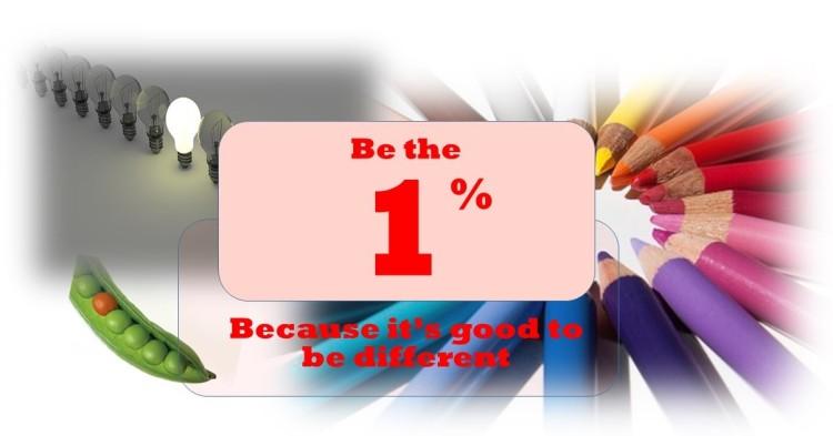 1% plus